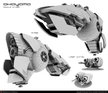 25-vaisseaux design concept dessin