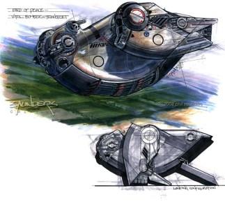 69-vaisseaux design concept dessin