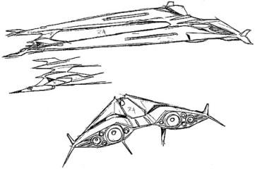 71-vaisseaux design concept dessin
