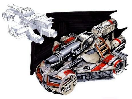 8-vaisseaux design concept dessin