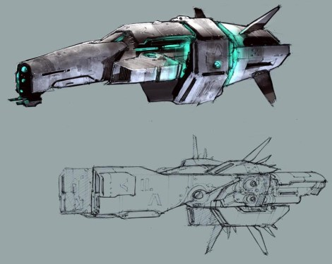 80-vaisseaux design concept dessin