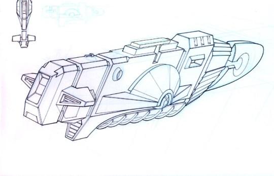 97-vaisseaux design concept dessin