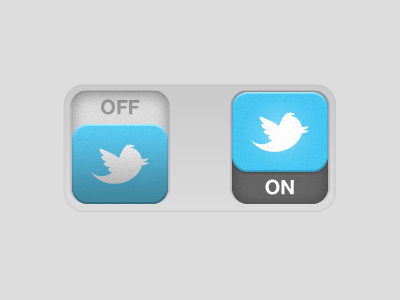 bouton on off twitter