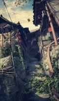 village 3d escaliers
