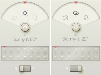 design apple appli meteo