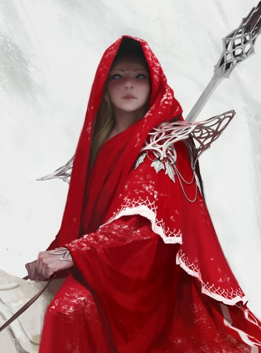 fille robe rouge cheval