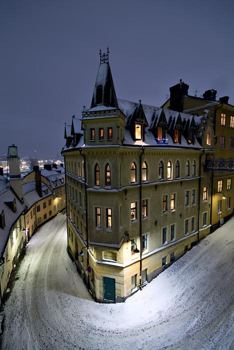 rue hdr neige photo