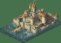 pixel art chateau isometrique