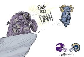 VikingsRams pixar nfl