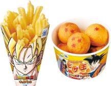dragon ball fast food frites