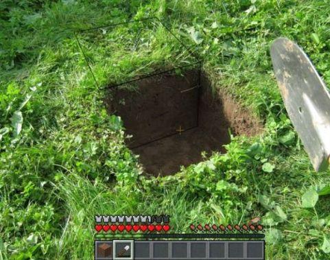 minecraft en vrai