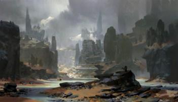 paysage rocheux dessin