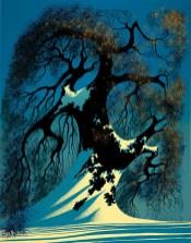 Eyvind Earle winter-bonsai-1982
