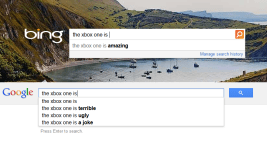 bing google xbox one is