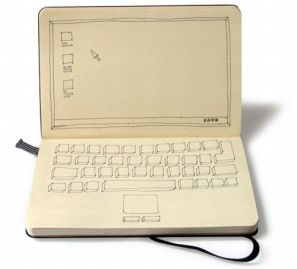 moleskine dessin laptop