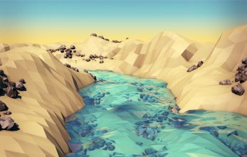 low poly riviere