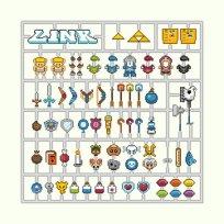 zelda link-kit pixel art