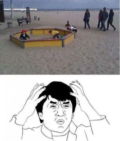 bac a sable dans sable