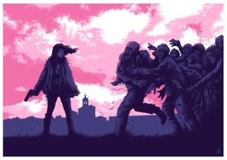 dessin zombi fille violet rose