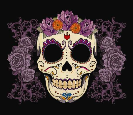 vintage-sugar-skull-and-roses-tammy-wetzel masque mexicain