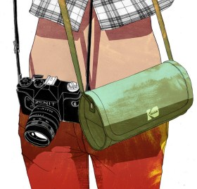 dessin reporter femme