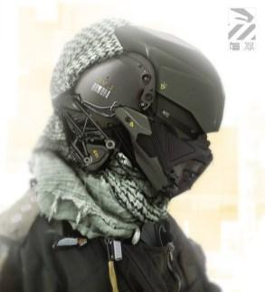 duster tete soldat futuriste