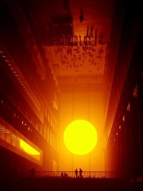 soleil reflet