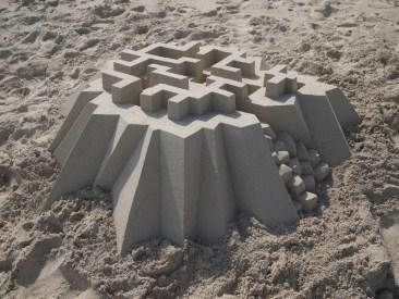 lowpoly sandcastle chateaux de sables 8