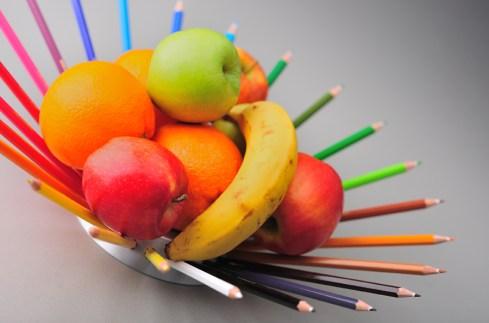 panier fruit crayon design