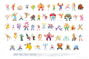 street fighters stylises dessin