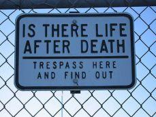 panneau avertissement mort
