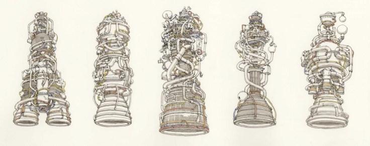 rocketengines moteurs dessin