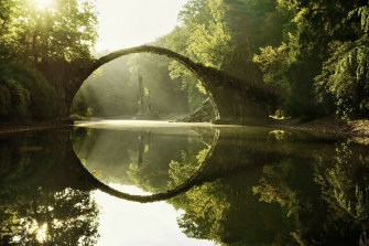 rond pont reflet