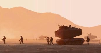 soldats mars tank