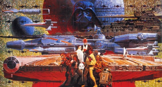 star wars affiche retro flashy