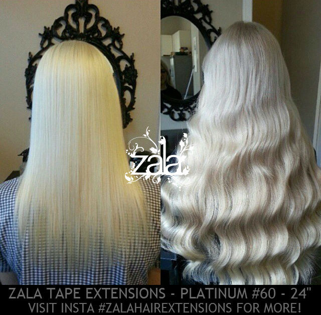 Blonde hair extensions tape in the best blonde hair 2017 tape in pu human hair extensions platinum white blonde 60 premium pmusecretfo Image collections