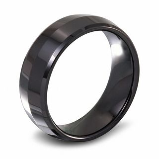 Mens 80mm Ceramic Dome Wedding Band Wedding Bands