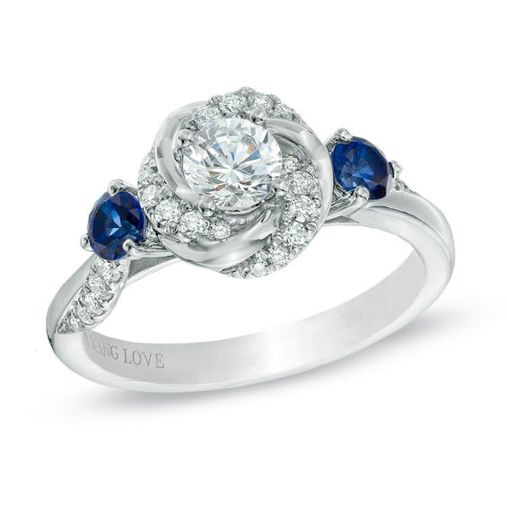 Vera Wang Love Collection 58 CT TW Diamond And Blue