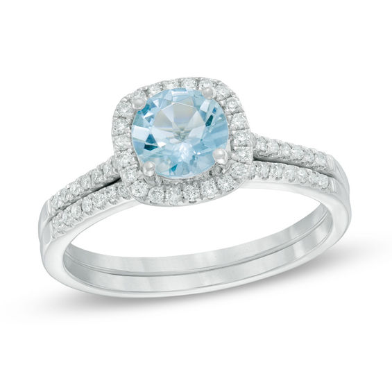 Your Stone Your Story 60mm Aquamarine And 14 CT TW