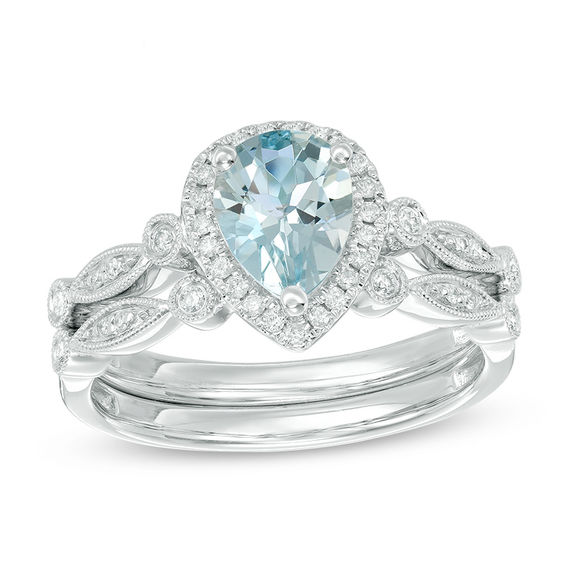 Your Stone Your Story Pear Shaped Aquamarine And 16 CT