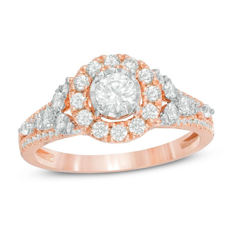 Rose Gold Enement Rings Zales   Enchanted Disney Fine Jewelry Di Zales Classy Cloud