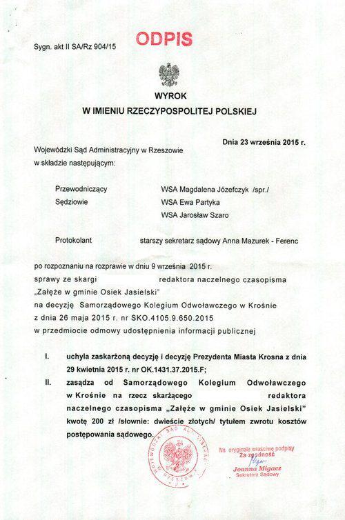 WYROK_WSA_Krosno_WWW