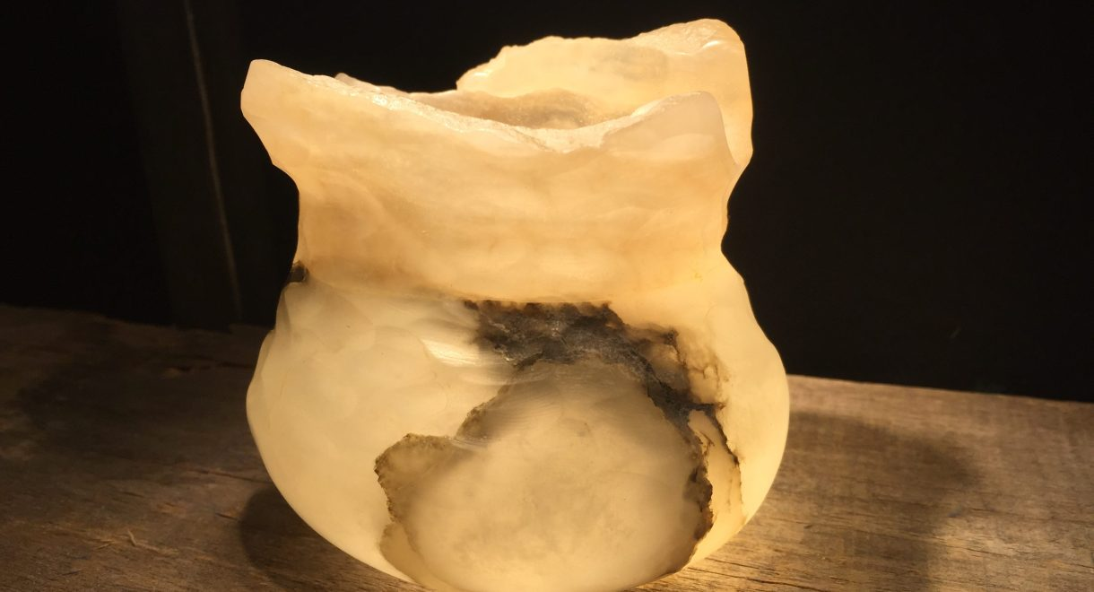 Windblown - Alabaster Vessel - Zali Zalkind - 2016