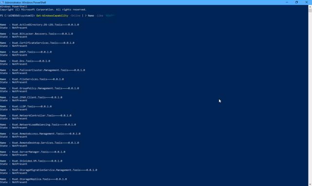Install RSAT Feature on Demand on Windows 10 1809 Using