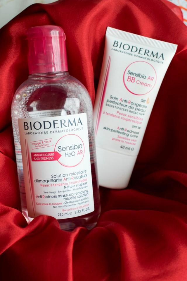 apa micelara si bb cream bioderma ten sensibil