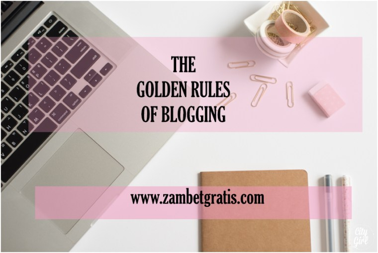 golden rules blogging