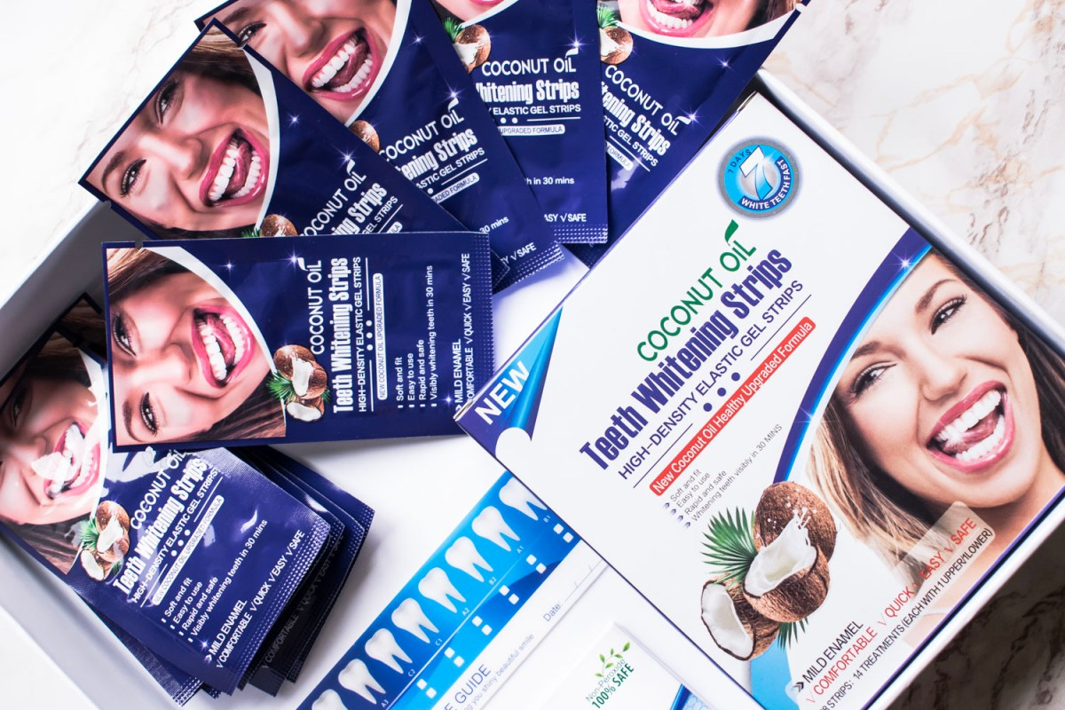 Albirea dinţilor: Coconut Oil Teeth Whitening Strips