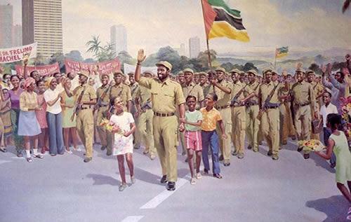 Revolutionary Mural in the Maputo Museum