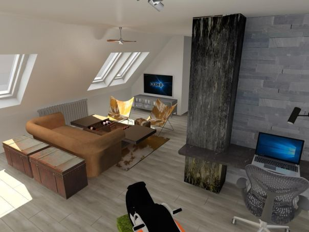 tetőtéri nappali