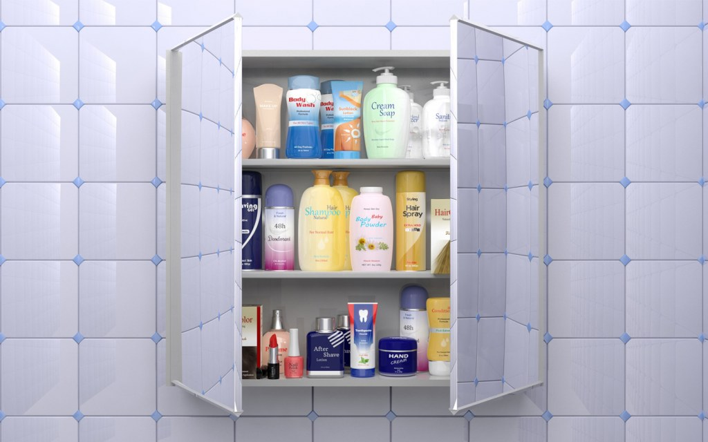installing wall cabinets in the bathroom
